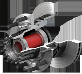 ConMet Iron Steer Hub & Rotor